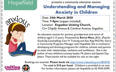 Anxiety in Children Workshops